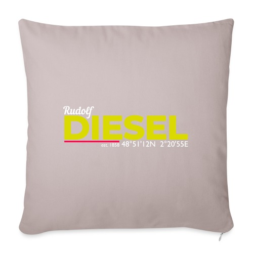 Rudolf Diesel geboren in Paris I Dieselholics - Sofakissenbezug 44 x 44 cm