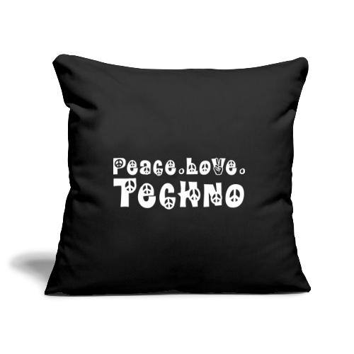 Peace Love Techno - Sofakissenbezug 44 x 44 cm