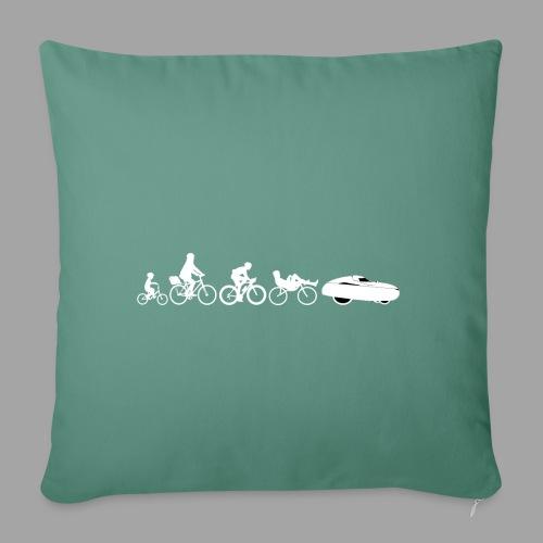 Bicycle evolution white - Sohvatyynyn päällinen 45 x 45 cm