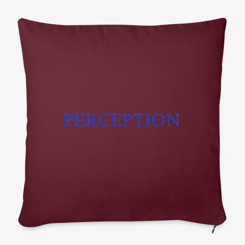 PERCEPTION CLOTHES BLEU - Housse de coussin décorative 45x 45cm