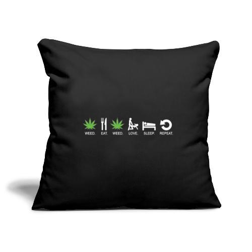 WEED - Copricuscino per divano, 45 x 45 cm