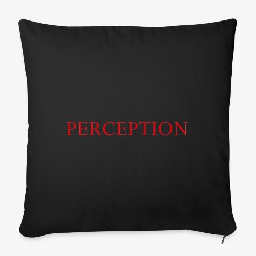 PERCEPTION CLOTHES ROUGE - Housse de coussin décorative 45x 45cm