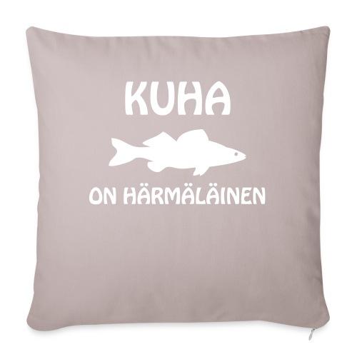 KUHA ON HÄRMÄLÄINEN - Sohvatyynyn päällinen 45 x 45 cm