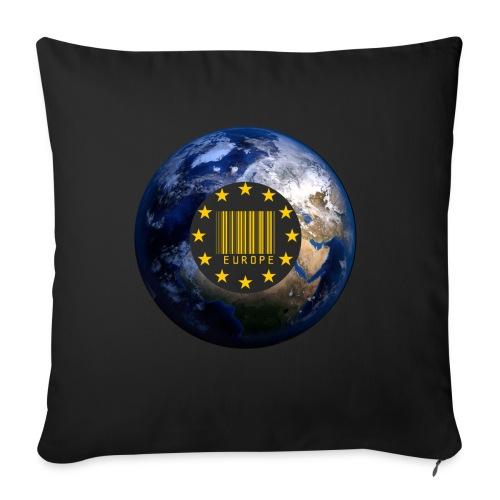 Europa EU Sterne gold Weltkugel - Sofakissenbezug 44 x 44 cm