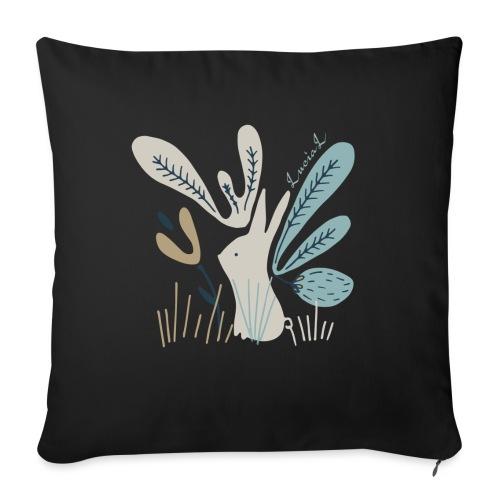 Rabbit in winter wonderland - Copricuscino per divano, 45 x 45 cm