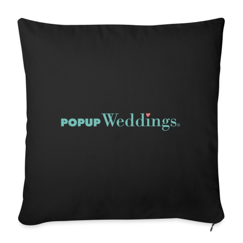 Popup Weddings - Sofa pillowcase 17,3'' x 17,3'' (45 x 45 cm)