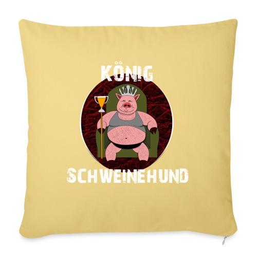 König Schweinehund BLACK - Sofa pillowcase 17,3'' x 17,3'' (45 x 45 cm)