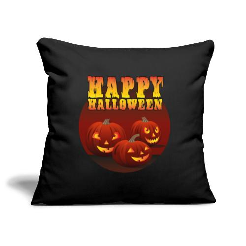 Happy Halloween med pumpor - Soffkuddsöverdrag, 45 x 45 cm
