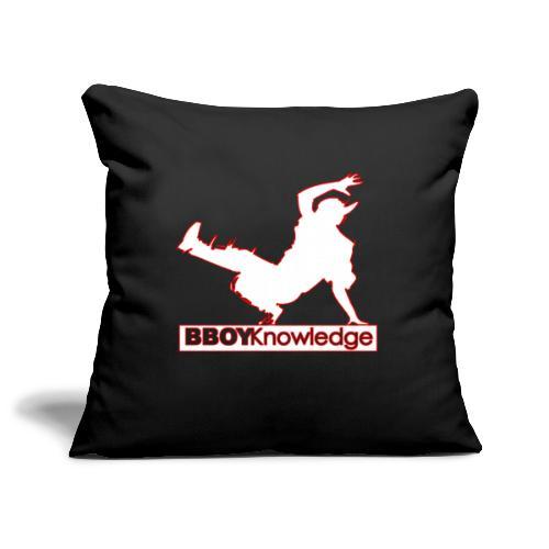 Bboy Knowledge Logo Variation Red&White - Housse de coussin décorative 45x 45cm