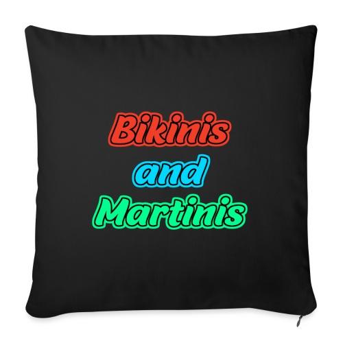 Bikinis & Martinis - Sofakissenbezug 44 x 44 cm
