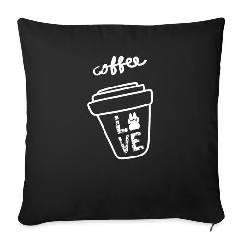 Coffee Love Kaffee Liebe - Sofakissenbezug 44 x 44 cm