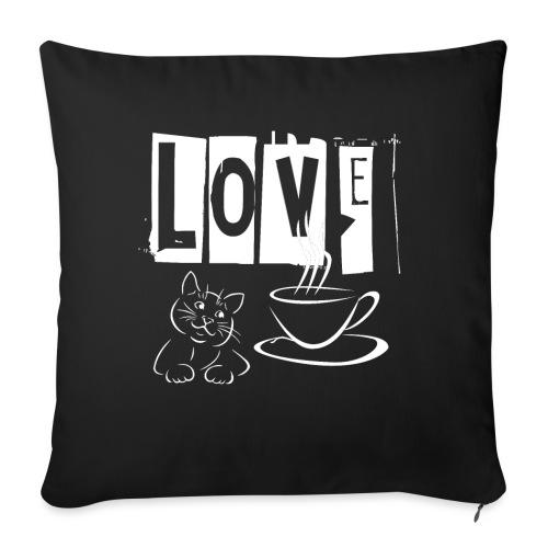 Love Katzen und Kaffee Liebe - Sofakissenbezug 44 x 44 cm