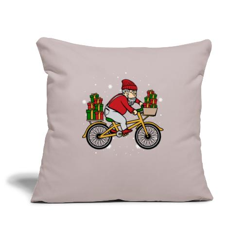 Winter Cyclist - Sofa pillowcase 17,3'' x 17,3'' (45 x 45 cm)