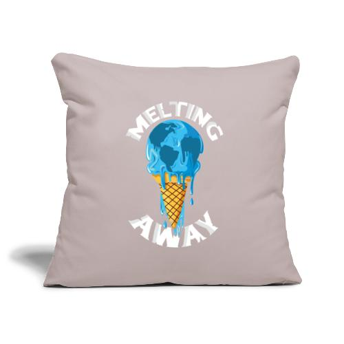 Our World Melting Away - Sofa pillowcase 17,3'' x 17,3'' (45 x 45 cm)