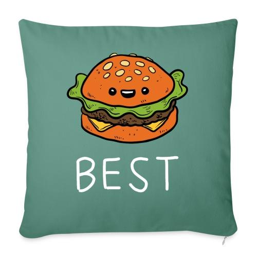 Beste Friends Burger und Pommes Partnerlook - Sofakissenbezug 44 x 44 cm