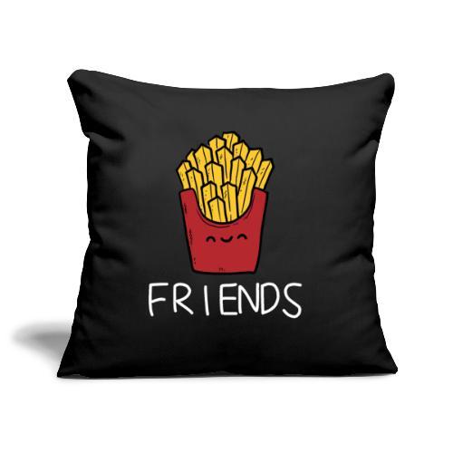 Burger und Pommes Best Friends Partnerlook - Sofakissenbezug 44 x 44 cm