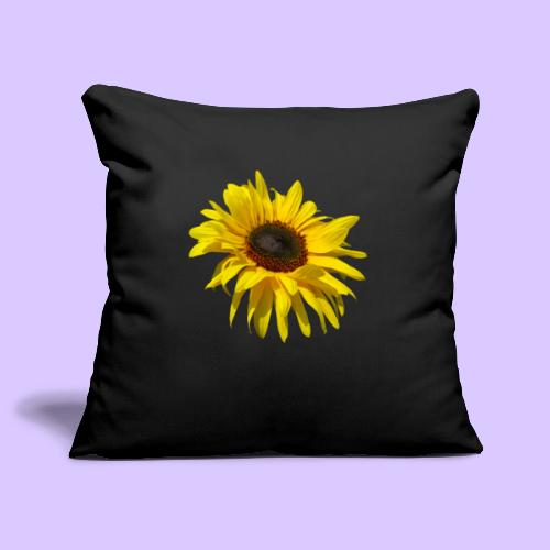 blühende Sonnenblume, Sonnenblumen, Blumen, Blüten - Sofakissenbezug 44 x 44 cm