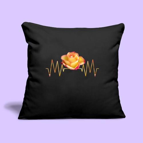 Rose, Herzschlag, Rosen, Blume, Herz, Frequenz - Sofakissenbezug 44 x 44 cm