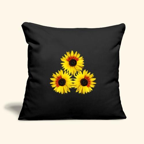 Sonnenblumen gelb, rot, Sonnenblumenfeld, Blumen - Sofakissenbezug 44 x 44 cm