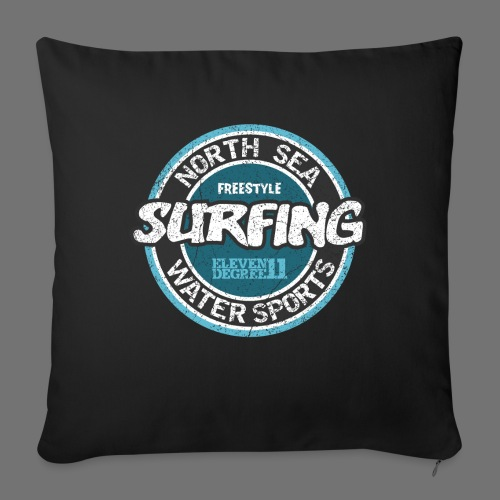 North Sea Surfing (oldstyle) - Sofa pillowcase 17,3'' x 17,3'' (45 x 45 cm)