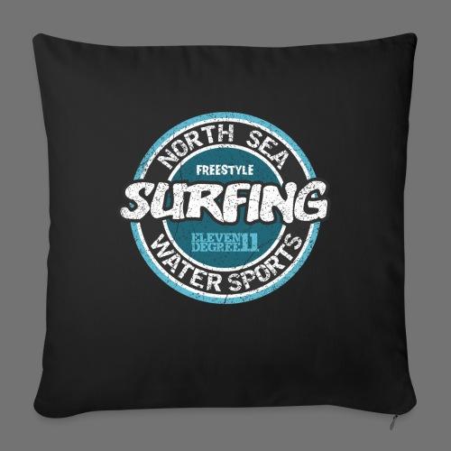 North Sea Surfing (oldstyle) - Sofakissenbezug 44 x 44 cm