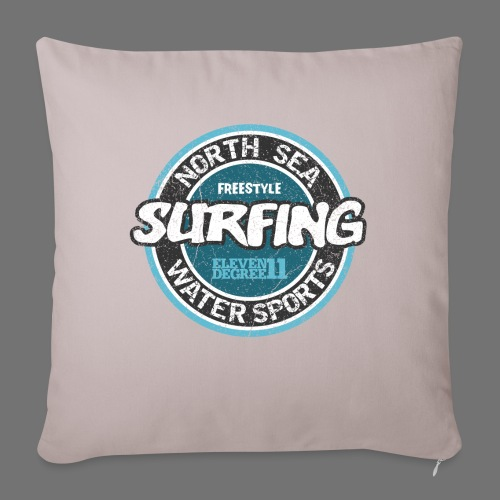 North Sea Surfing (oldstyle) - Sohvatyynyn päällinen 45 x 45 cm
