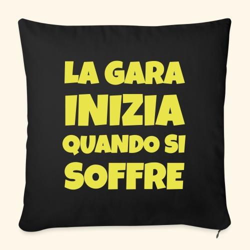 Frase Ironica - La Gara Inizia - FLAT - Copricuscino per divano, 45 x 45 cm