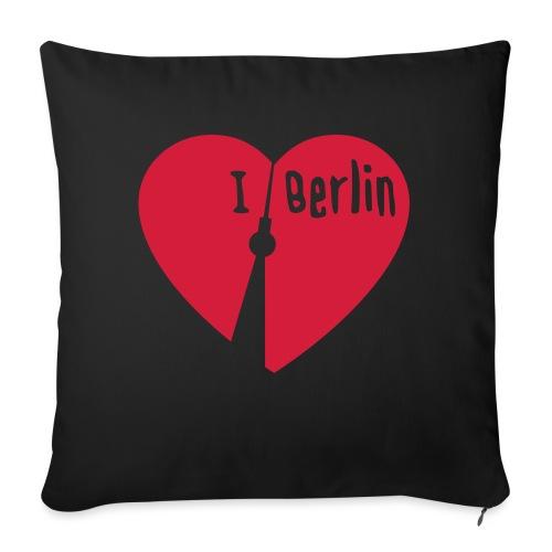 I love Berlin (1-farbig) - Sofakissenbezug 44 x 44 cm