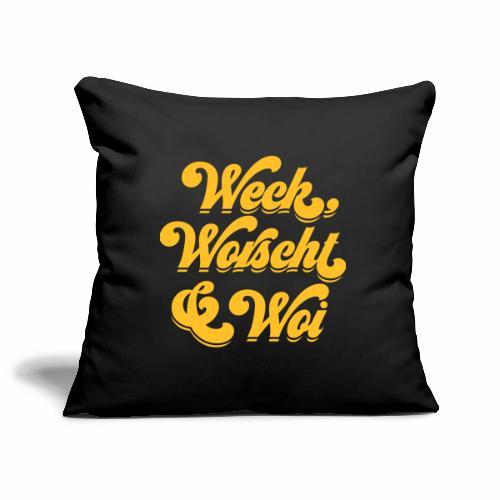 Weck, Worscht & Woi - Sofakissenbezug 44 x 44 cm