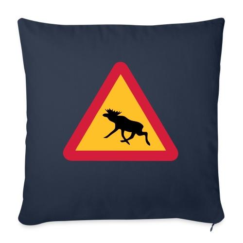 Warnung Elch! Älg! Moose! Schweden Sweden (vektor) - Sofakissenbezug 44 x 44 cm