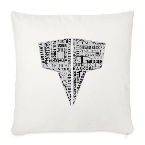 Word Logo // Kaskobi - Sofa pillowcase 17,3'' x 17,3'' (45 x 45 cm)