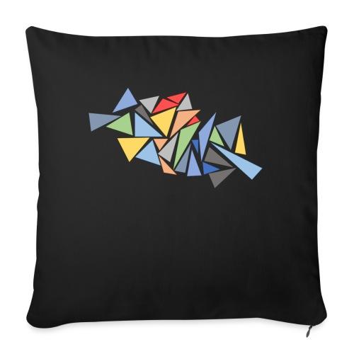 Modern Triangles - Sofa pillowcase 17,3'' x 17,3'' (45 x 45 cm)