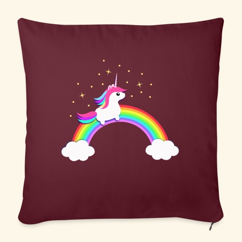 Rainbow Unicorn - Sofakissenbezug 44 x 44 cm