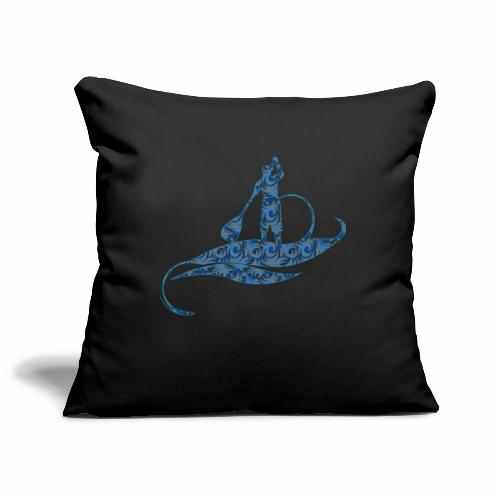 Blue Ocean - Housse de coussin décorative 45x 45cm