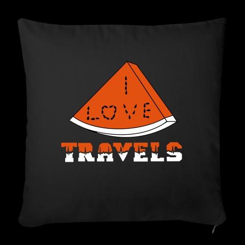 I LOVE TRAVELS FRUITS for life - Sofa pillowcase 17,3'' x 17,3'' (45 x 45 cm)