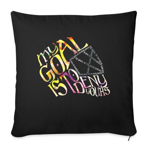 Hockey Goalie Quote - Sofa pillowcase 17,3'' x 17,3'' (45 x 45 cm)