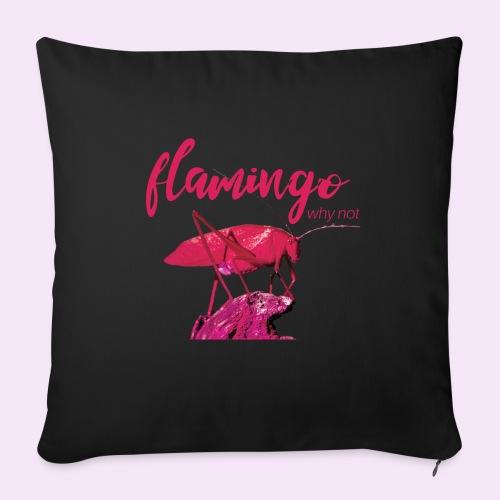 Wannabe Flamingo Sprinkhaan HOT PINK BABY - Sierkussenhoes, 45 x 45 cm