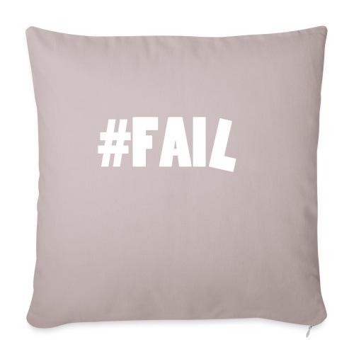 FAIL / White - Housse de coussin décorative 45x 45cm