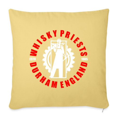 IRON MAN LOGO RED WHITE TRANS - Sofa pillowcase 17,3'' x 17,3'' (45 x 45 cm)