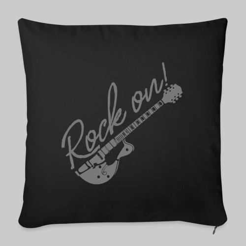 Rock On mit Gitarre - Sofakissenbezug 44 x 44 cm