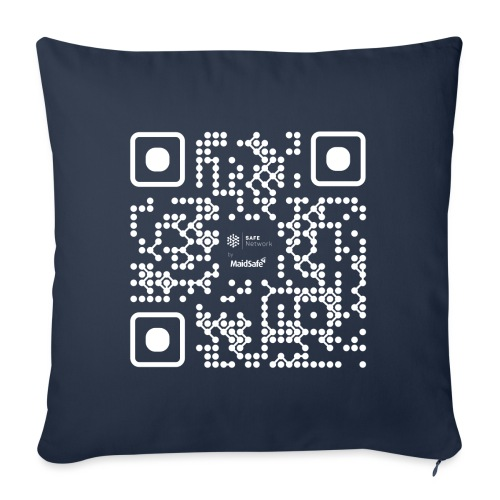 QR - Maidsafe.net White - Sofa pillowcase 17,3'' x 17,3'' (45 x 45 cm)