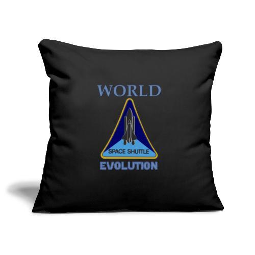 World evolution. - Funda de cojín, 45 x 45 cm