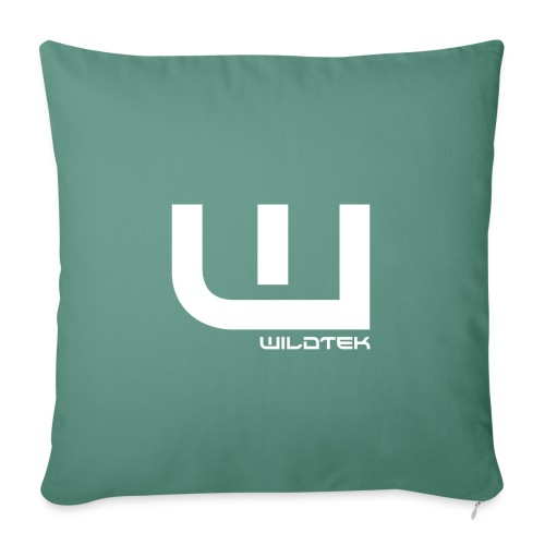 Wildtek Logo White - Sofa pillowcase 17,3'' x 17,3'' (45 x 45 cm)