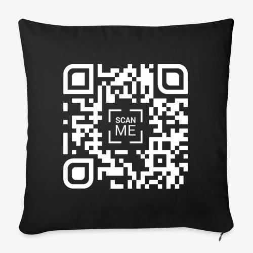 QR code (white) - Sofa pillowcase 17,3'' x 17,3'' (45 x 45 cm)