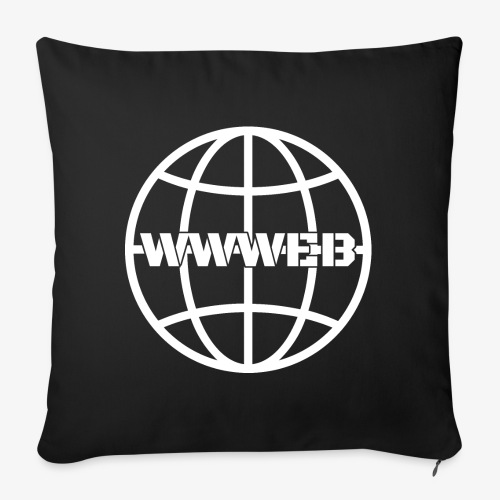 WWWeb (white) - Sofa pillowcase 17,3'' x 17,3'' (45 x 45 cm)