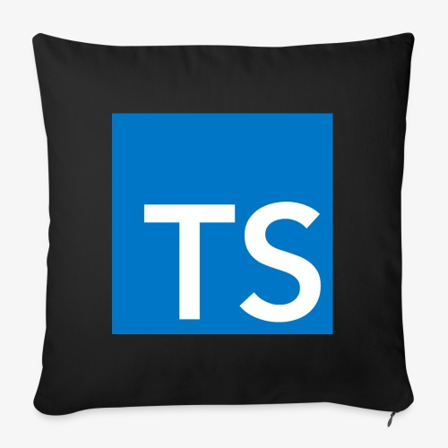 TypeScript Logo - Sofa pillowcase 17,3'' x 17,3'' (45 x 45 cm)