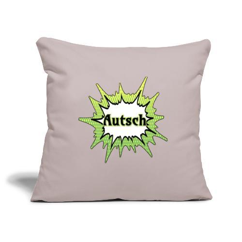 Comic Schrift Autsch - Sofakissenbezug 44 x 44 cm