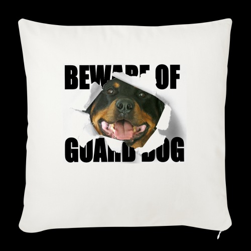 beware of guard dog - Sofa pillowcase 17,3'' x 17,3'' (45 x 45 cm)