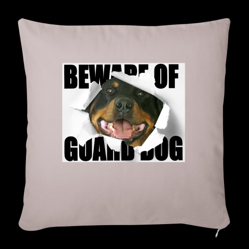 beware of guard dog - Sofa pillowcase 17,3'' x 17,3'' (45 x 45 cm)