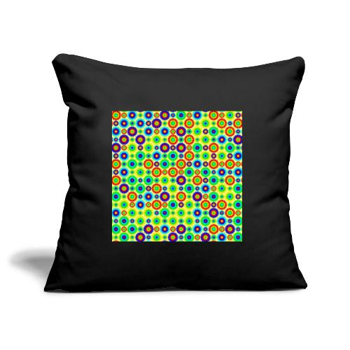 Multi-colored abstract flower pattern - Sofa pillowcase 17,3'' x 17,3'' (45 x 45 cm)